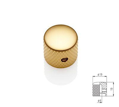 Flat Dome Knob - Gold Satin