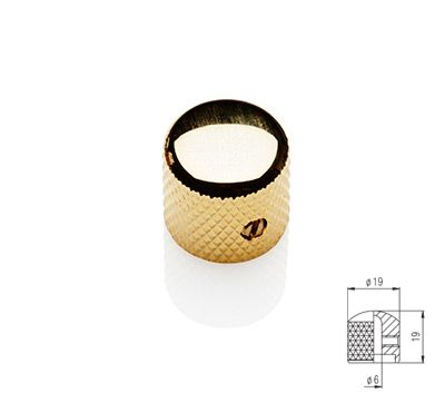 Dome Knob - Gold