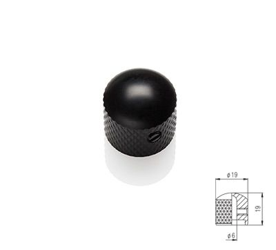 Dome Knob - Black Satin