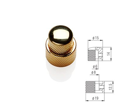 Stacked Knob Set - Gold